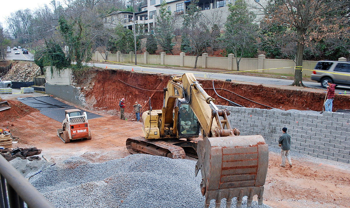 commercial retaining wall atlanta