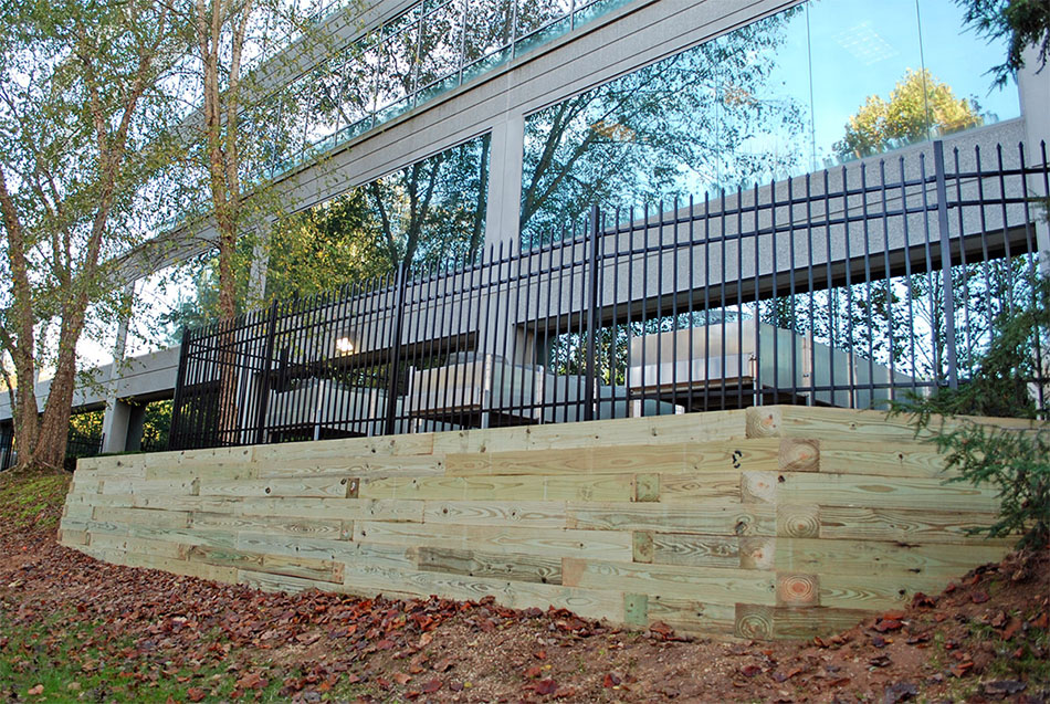 timber retaining wall replacement