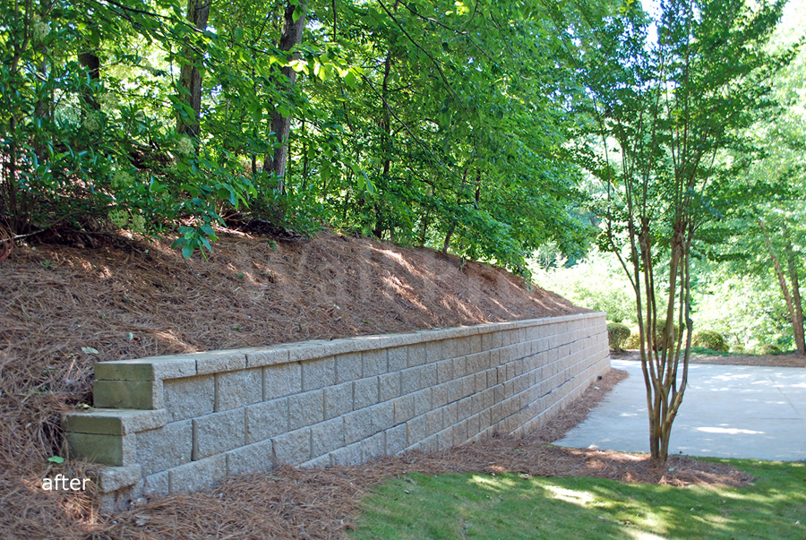 after retaining wall replacement