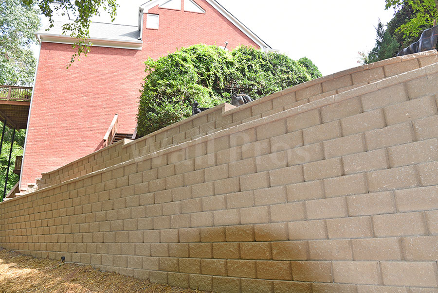 retaining wall replacement project after