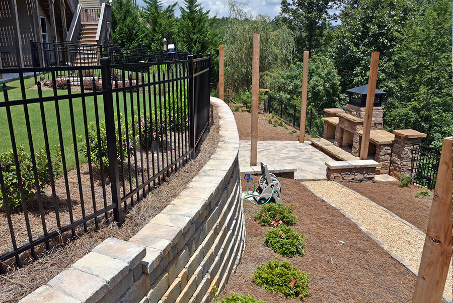 retaining wall safety rails