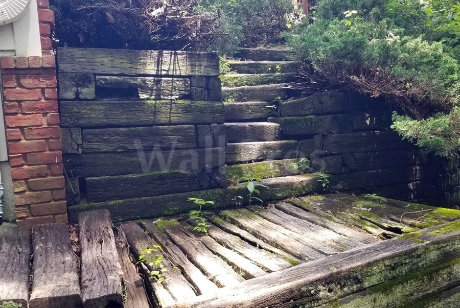 retaining wall steps before